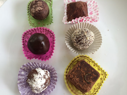 Assorted Truffles - Gift Box With 6 (VEGAN)