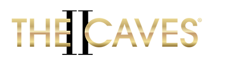 The Caves 2 Logo Gold with black.png