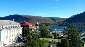 View from our hotel in Tromso, Norway
