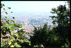 View of Brasov, Romania from cable cars