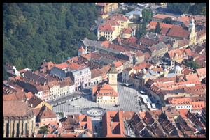 Close-up view of Brasov, Romania