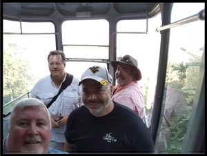 Some of the Friends That Carry On in the cable car in Brasov, Romania