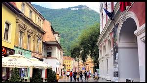 View of Brasov Sign in Grasov, Romania