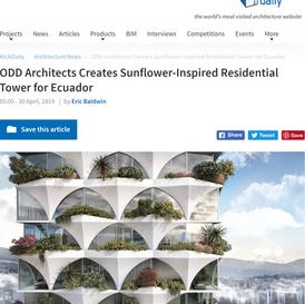 odD+ Creates Sunflower- Inspired Tower