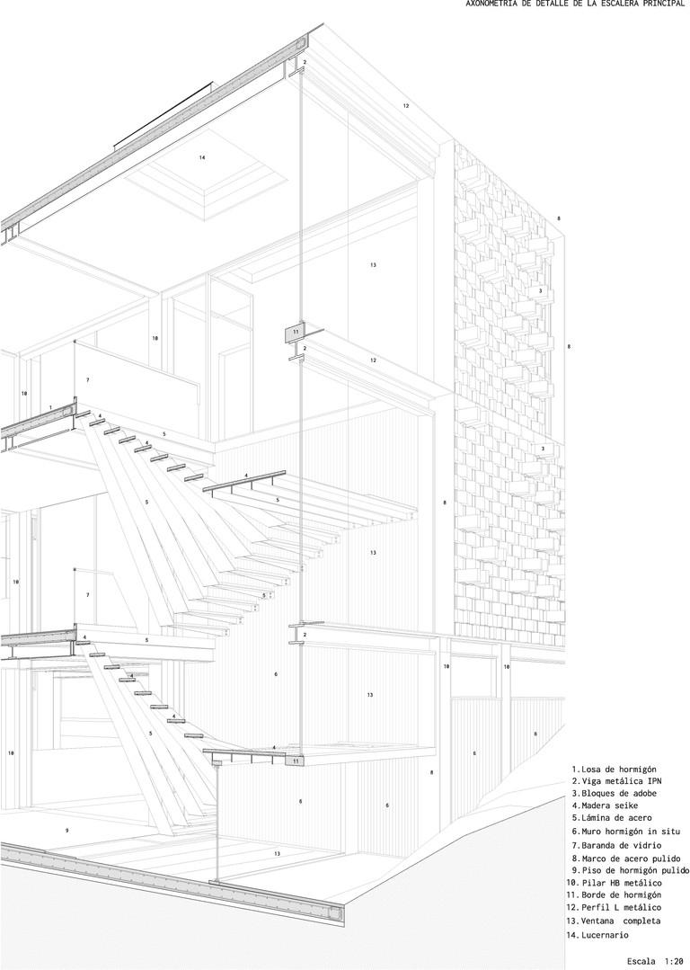 odD+_Axonometria constructiva escalera .