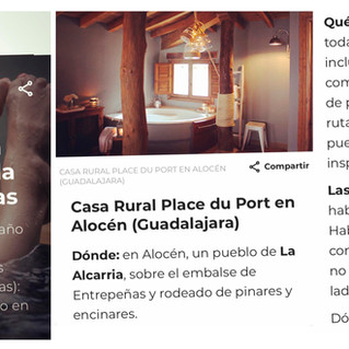 Condé Nast Traveler nos incluye entre los mejores alojamientos con jacuzzi  !!! 👏👏