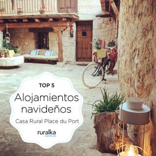 Nos han vuelto a galardonar con el Top 5 de Alojamientos navideños en el Club de Calidad Ruralka