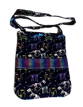 Dino Skeletons Zip Shoulder Bag