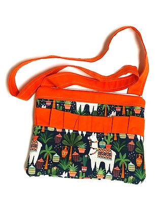 Llamas Zip Shoulder Bag