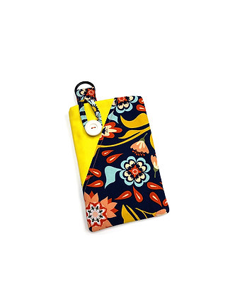 Yellow Floral Cell Pouch
