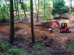 Mountain bike trail construction
