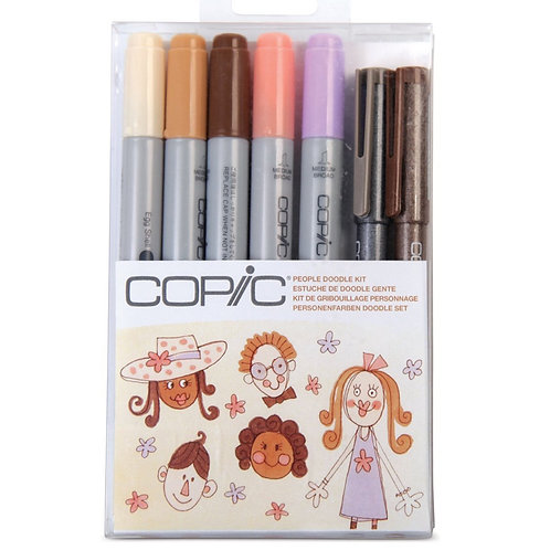 CIAO MARKERS SET - People 7 piece Doodle Kit