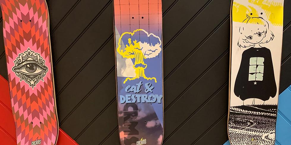 Surf & Skate Art Class - Wednesday September 22nd 1pm-4pm (Grades 3+)