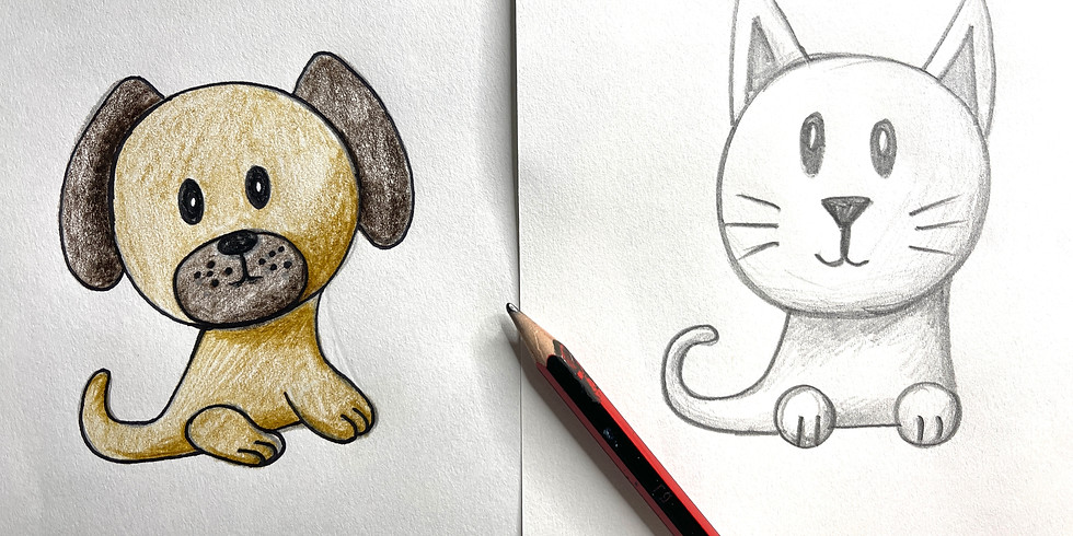 FREE Online Art Class - Cats and Dogs