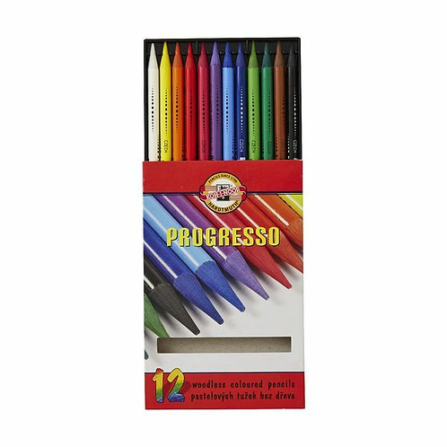 KOH-I-NOOR PROGRESSO COLOURED PENCILS 12 PACK