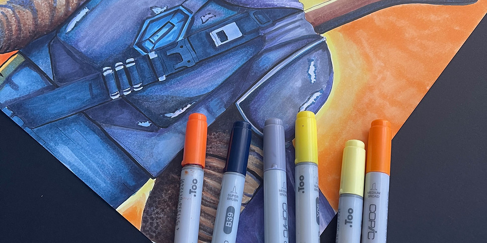 Copic Marker Class - Tuesday 13th April 9am -12pm