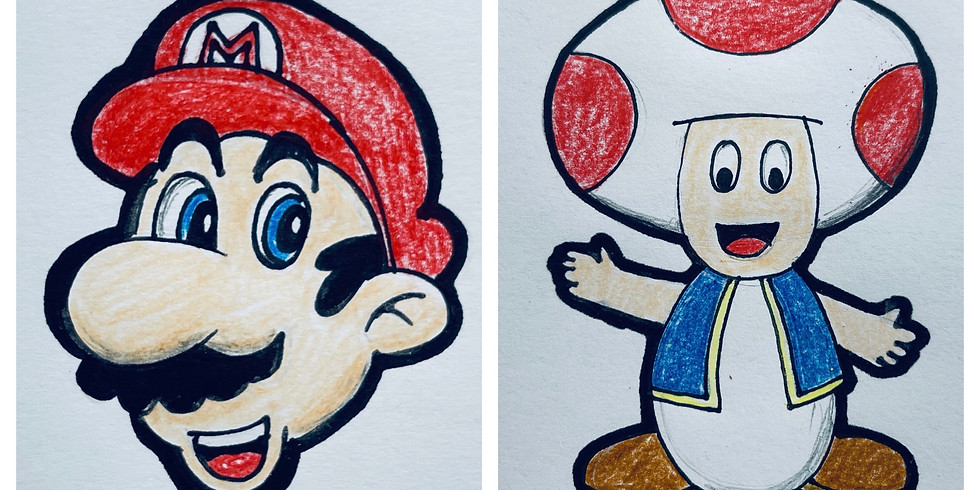FREE Online Art Class - Super Mario and Toad