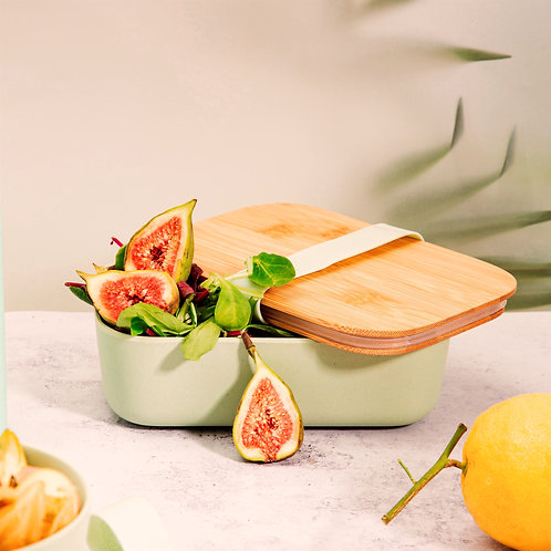 Mint Green Lunch Box with Bamboo Lid