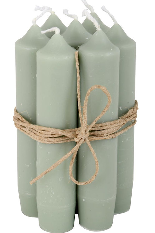 Dinner Candles, Dusty Green