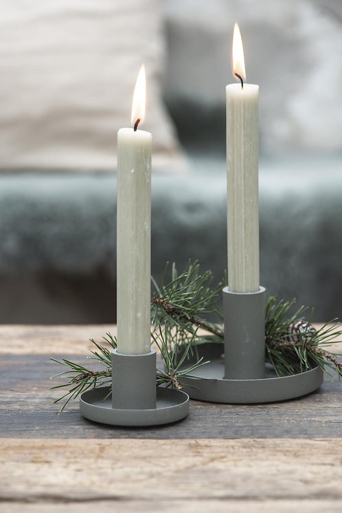Dusty Green Candle Holder, Slim