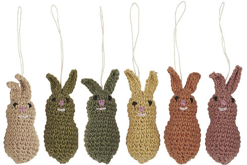 Easter Bunny, Hand Crocheted, Set of 4