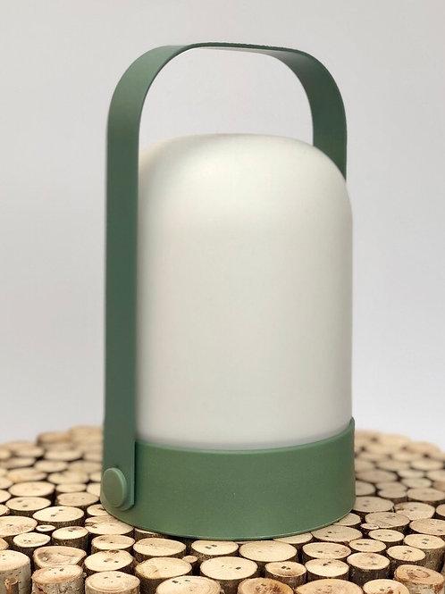 Warm LED Contemporary Lantern Green