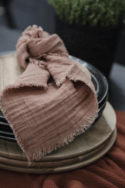 Double Weave Napkin, Brick
