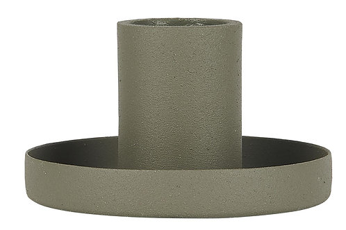 Dusty Green Candle Holder, Chunky