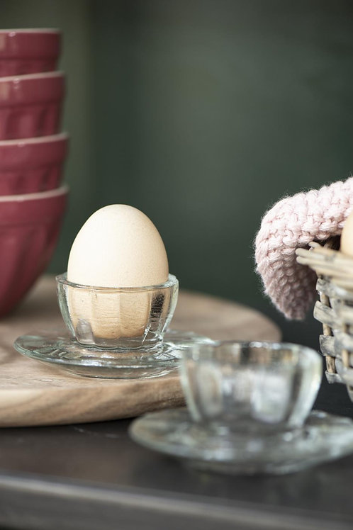 Glass Egg Cups, set of 2