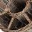 Thumbnail: Grey Willow Bubbles & Flutes Round Basket