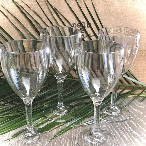 Reusable Glass Look Wine Glass, Set of 4