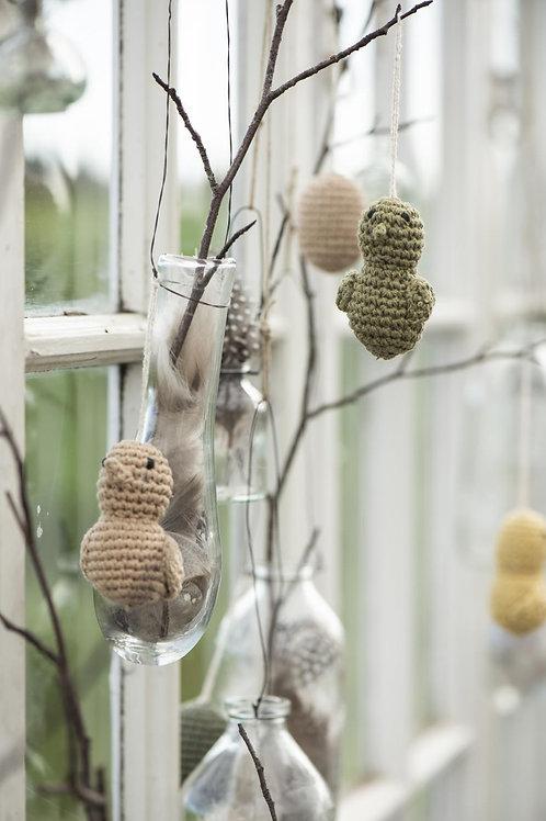 Easter Chicks, Hand Crocheted, Set of 4