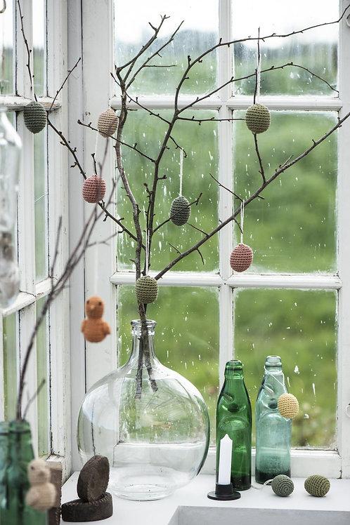 Easter Eggs, Hand Crocheted, Set of 4