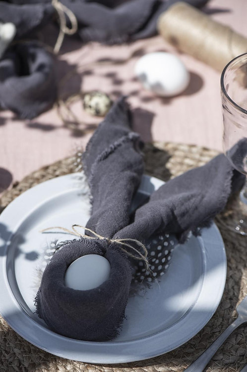 Double Weave Napkin, Dark Grey