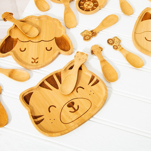Bamboo Childrens Plate in a Tiger Design