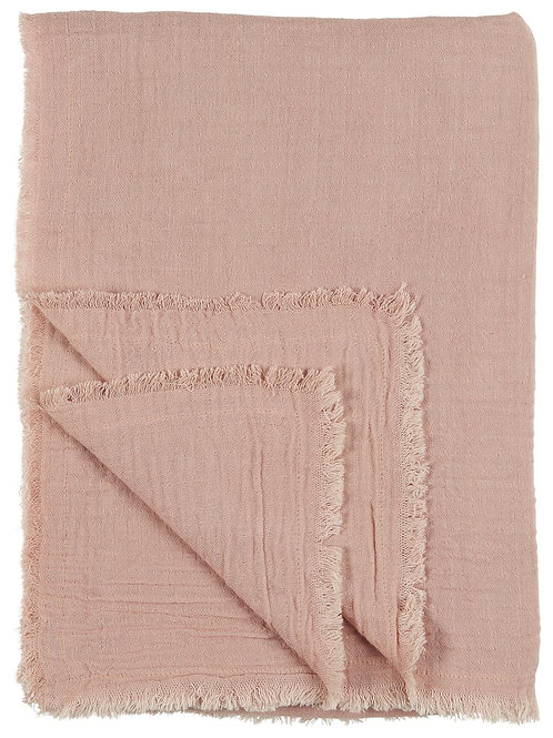 Double Weave Blanket/Table Throw, Blush
