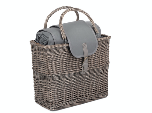 Grey Willow Insulated Basket with Matching Rug