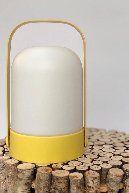 Warm LED Contemporary Lantern Yellow