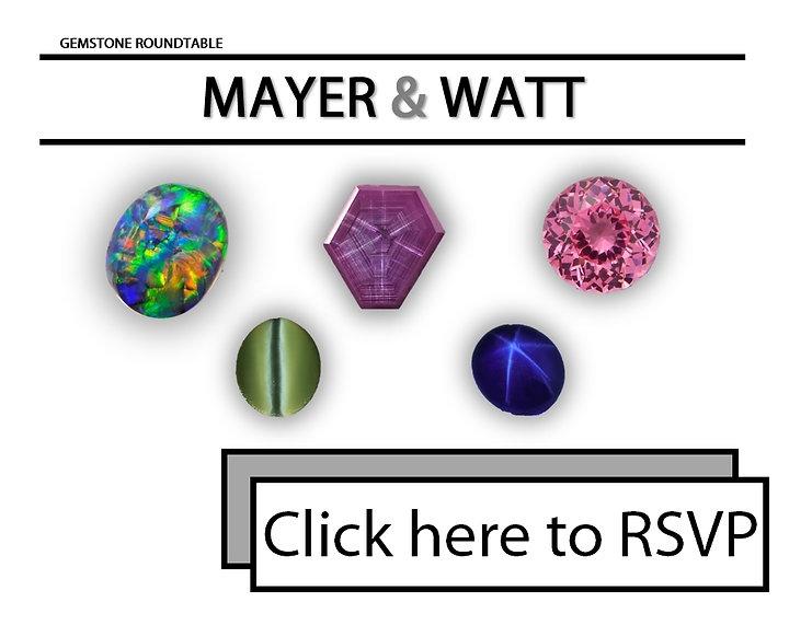 Mayer & Watt gemstone rountable rsvp