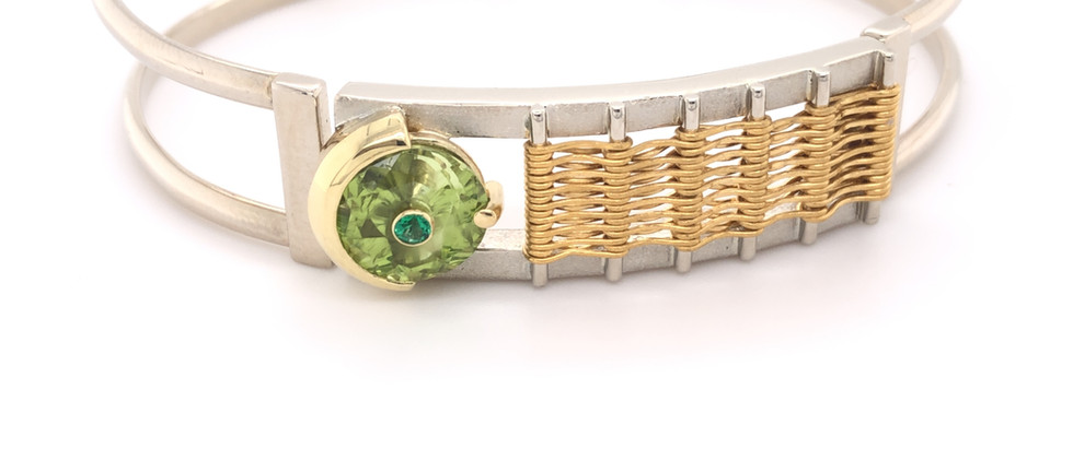 Tension Cuff with Woven Charm
