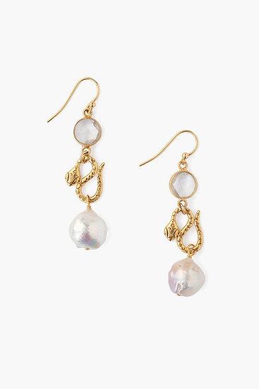 Chan Luu earrings clear quartz
