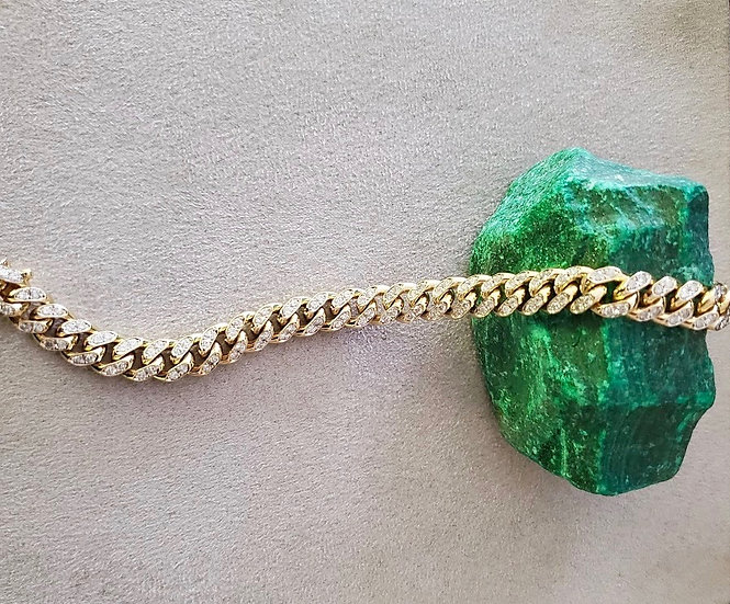 14 karat gold and diamond bracelet