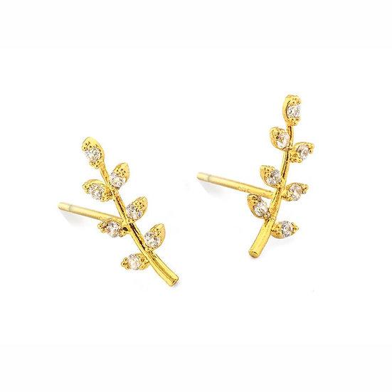 Tai  leaf earrings