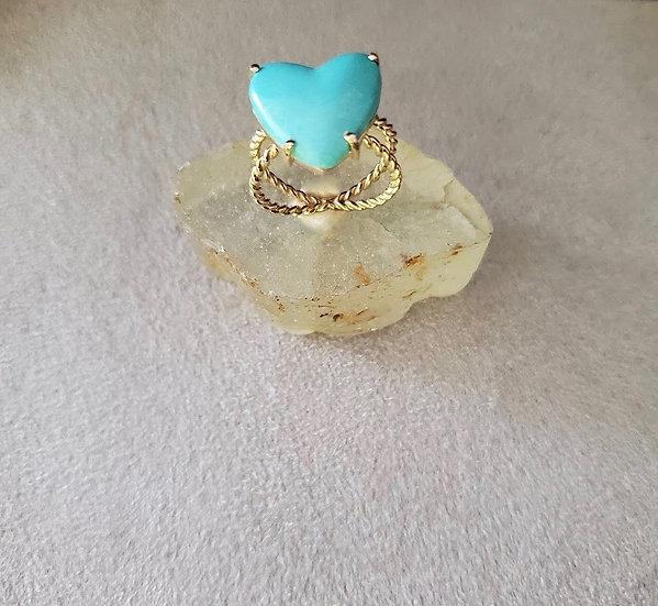 14 karat gold turquoise ring