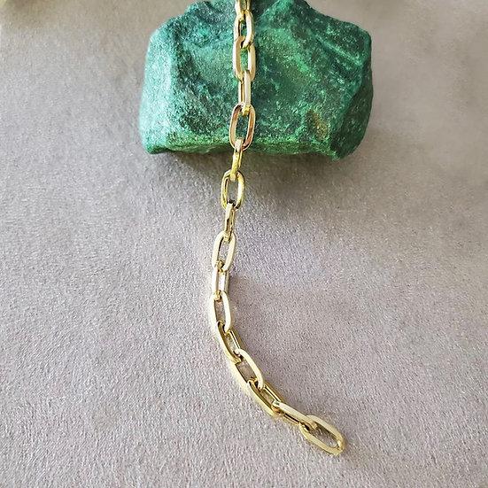 14 karat yellow, gold bracelet