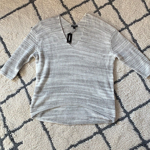 Express | light grey and white sweater