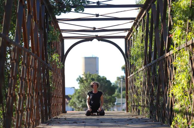 Meditative yoga pose