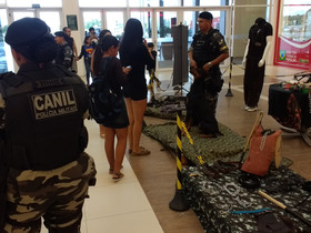 POLICIA MILITAR REALIZA EXPOSIÇÃO NO RORAIMA GARDEN SHOPPING