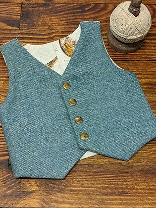Boys tweed waistcoat