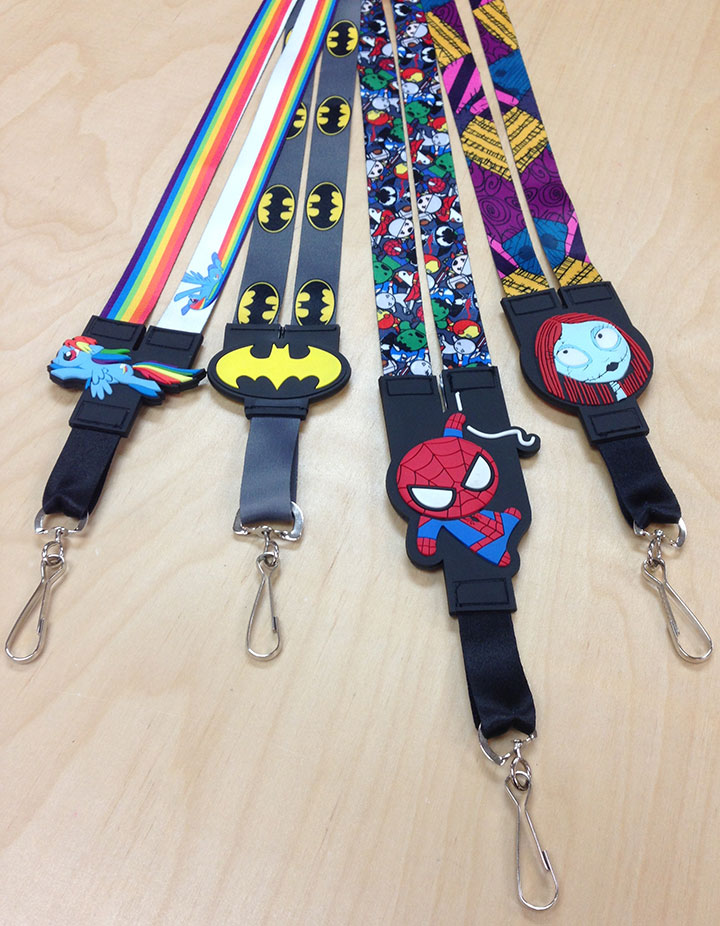 Large Rubber Charm Lanyards